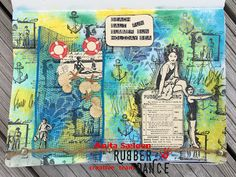 * Rubber Dance Blog *: Summery art journal page and a salty summer sale