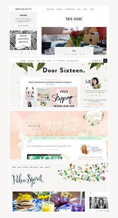 Beautiful Blog Design | Website Layout | Headers | Branding | Niche | Inspiration | Web Design | Ideas | Blogging | Branding | Business