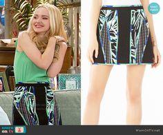 Liv's panelled palm print skirt on Liv and Maddie. Outfit Details: https://wornontv.net/64114/ #LivandMaddie
