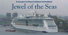 Royal Caribbean's new jewel in the crown outshines all other ships in port. Last in a series of four, Jewel of the Seas was delivered by respected German Meyer Werft in late April