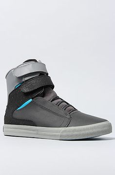 SUPRA The Society Sneaker in Grey Black Turquoise Accents