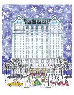 Everyone loves New York. inglese, tedesca e francese New York Winter, New York Christmas, Vintage Christmas, Holiday Cards, Christmas Cards, Merry Christmas, Winter Wallpaper, Apple New, Hotels
