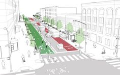 Downtown 1-Way Street | NACTO