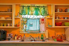 Una cocina muy alegre....