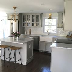 FAVORITE LOOK!!! Similar layout to my current kitchen