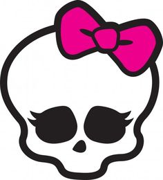 Monster High Skull Image...used wonder under to make this on a hand towel for my neice.  She loved it!