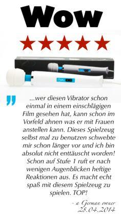 """""""Wow ... Dieses Spielzeug selbst mal zu benutzen schwebte mir schon länger vor und ich bin absolut nicht enttäuscht worden! Schon auf Stufe 1 ruft er nach wenigen Augenblicken heftige Reaktionen aus. Es macht echt spaß mit diesem Spielzeug zu spielen. TOP!"""" - 28.04.2014 German owner of #EuropeMagicWand wand massager. #5outof5 stars for @EuropeMagicWand. Get more info at www.europemagicwand.de"""