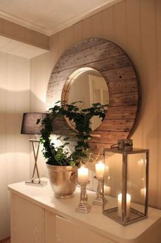 Decoración de espejos con madera - Mirros wood decoration
