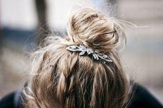 Subtle and laid-back bridal bejewelling