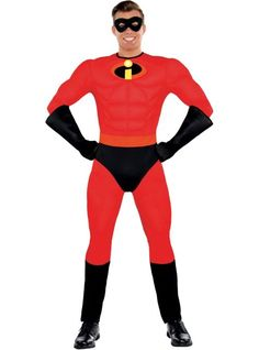 Adult Mr. Incredible Muscle Costume - The Incredibles - Party City
