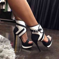 Black & White High Heels
