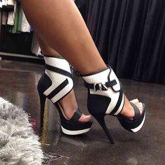 Black & White High Heels
