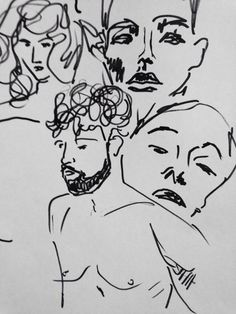 sketch #random #sketch #drawing #portrait #people #hipsters #off #art #ownart #simple #graphic #handmade