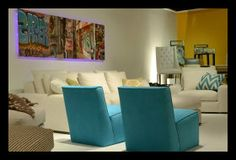 photography and art by Sally J Coates displayed at Nathan Anthony Furniture showroom