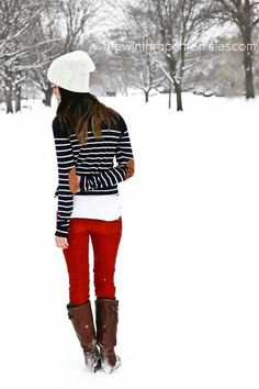 Red pants done right!!
