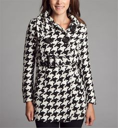 Black Houndstooth Coat, cute AND affordable!