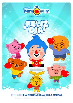 30 DE JULIO DÍA INTERNACIONAL DE LA AMISTAD 2nd Birthday, Birthday Parties, Disney Junior, Birthday Party Decorations, Tweety, Ideas Para, Smurfs, Pikachu, Applique