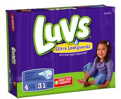 I'm learning all about Luvs Ultra Leakguards Jumbo Pack Size 4 at @Influenster!