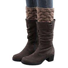 Women Thick Warm Leg Warmers Winter Boot Cuffs Knitted Sock Boots Calentadores Pierna Mujer Beenwarmers Vrouwen Lady Legwarmers Women's Socks & Hosiery Leg Warmers