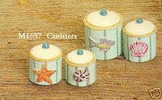 8 Piece Cannister Set Dollhouse Furniture   eBay