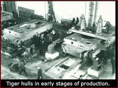 Production of Tiger I at Henschel factory: Henschel received forged, unmachined castings of tank hull and turret from Krupp