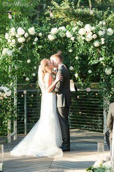 Gorgeous Greenery Wedding Arch For An Outdoor Wedding www.elegantwedding.ca