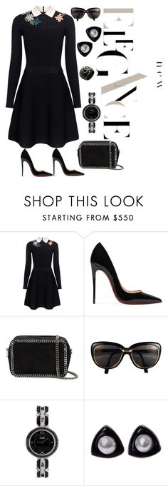 """NIGHT ELEGANCE"" by grettelcabrera on Polyvore featuring moda, RED Valentino, Christian Louboutin, STELLA McCARTNEY, Cartier, Fendi y Chanel"