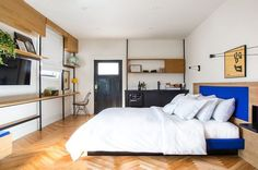 20 Tiny Hotel Rooms That Nailed the Whole Small Space Trend via Brit + Co