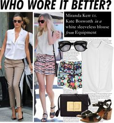 """""""Who Wore It Better: Miranda Kerr or Kate Bosworth"""" by polyvore-editorial on Polyvore"""