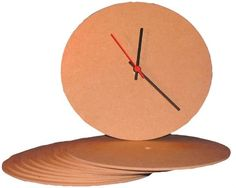 MDF Clock Face, Round, pack of 10