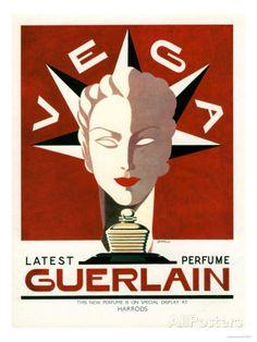 Guerlain, Guerlain Vega Art Deco Womens, UK, 1940 Kunst bei AllPosters.de