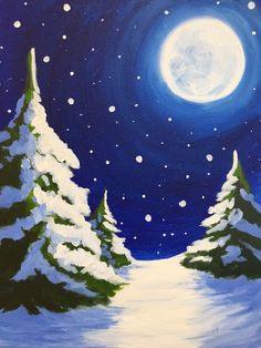 40 Acrylic Painting Tutorials 038 Ideas For Beginners Brighter Craft 40 Acrylic Painting Tutorials 038 Ideas For Beginners Brighter Craft Brunhilde Knechtel brunhildeknecht Winter Need some painting inspiration Well nbsp hellip Painting winter Painting Snow, Winter Painting, Winter Art, Winter Moon, Winter Scenes To Paint, Wine And Canvas, Christmas Paintings On Canvas, Paint And Sip, Acrylic Painting Tutorials