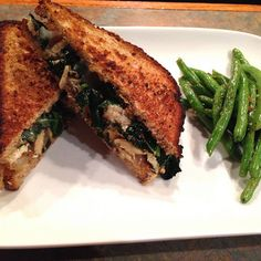 Kale and Caramelized Onion Grilled Cheese