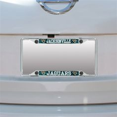 NFL Jacksonville Jaguars Chevron Small Over Small Metal Acrylic Cut License  Plate Frame