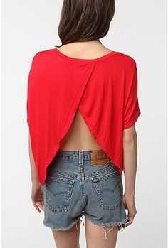 this is from urban outfitters. But I could make this by cutting up an old t-shirt