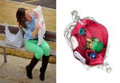 Glazed Chevron Hobo Diaper Bag | baby gear | designer diaper bag - $89 #mommycouturedesigns