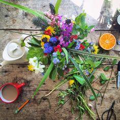 Ultimissime dall'orto: fiori e caffelatte - by 5ftinf #floralmoodboard