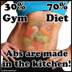 Truth. If you dont eat clean, it doesnt matter how many crunches you do, you won't see the results you want.