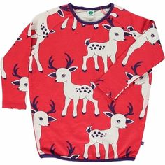 Smafolk sweatshirt dress. deer print<br>Size 1-8Y