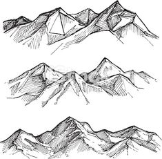 Most recent Photos mountain drawing sketches Strategies Exactly what is the real distinction between painting along with painting? To be able to answer to this specific conund Mountain Sketch, Mountain Drawing, Mountain Art, Mountain Photos, Pen Sketch, Drawing Sketches, Art Drawings, How To Sketch, Nature Sketch