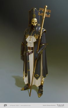 """""""The holy keys church"""" priest Fantasy Character Design, Character Design Inspiration, Character Concept, Character Art, Concept Art, Dark Fantasy, Fantasy Armor, Dnd Characters, Fantasy Characters"""