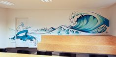 A mural done for Veneficus, a company based in Rotterdam, specialized in data analysis. They wanted a big wave ( that representing the big wave of data they work with) , being controlled by a sorcerer, since the name Veneficus means sorcerer. The 'no free…