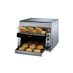 Star High Volume Conveyor Electric Bun Toaster >>> More info could be found at the image url. (This is an affiliate link) Small Electric Oven, Commercial Cooking Equipment, Italian Express, Pop Up Toaster, Bagel Bread, Bread Toaster, Small Coffee Shop, Countertop Oven, Texas Toast