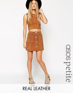 Discover women's tall clothing with ASOS. From tall jeans, long length t-shirts, to long skirts and dresses. Find the fit that suits you today at ASOS. Clothing For Tall Women, Clothes For Women, A Line Skirts, Mini Skirts, Style Année 70, 70s Mode, Tan Skirt, Waist Skirt, Suede Mini Skirt