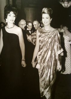 Princess Grace and opera singer, Maria Callas