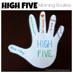 High Five Morning Routine for Kids