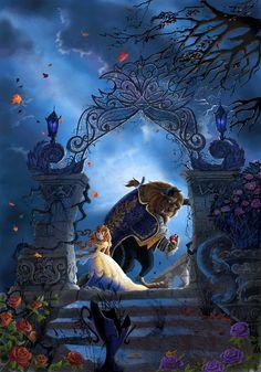Disney Magic, Walt Disney, Disney Amor, Disney Dream, Disney Love, Disney Beauty And The Beast, Disney And More, Beauty Beast, Disney Fan Art
