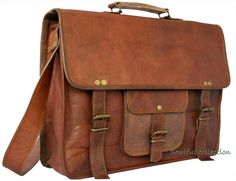 """Leather Messenger bag 15"""" / Leather satchel bag / Laptop bag / Macbook bag - Laptop Cases & Bags"""