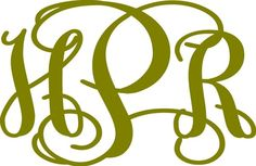 Good price. 1 1/2 Vinyl Monogram Decal by InitialYou on Etsy, $2.95