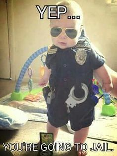 Baby Police Officer from Shanna Yearwood.--Cutest kid ever!--Well, let me qualify that: next to my grandkids maybe (mkc).